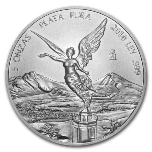 LIBERTAD - MEXICO - 2018 5 oz Silver Brilliant Uncirculated Coin  BU ***SALE***