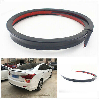 Flexible 1.2M Black Car SUV Rear Trunk Spoiler Rear Wing Lip Decoration Sticker