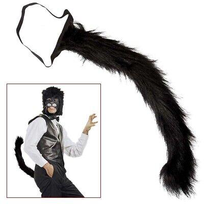 SCHWARZER KATZEN SCHWANZ # Halloween Karneval Wolf Hunde Tier Kostüm Party (Wolf Katze Kostüm)