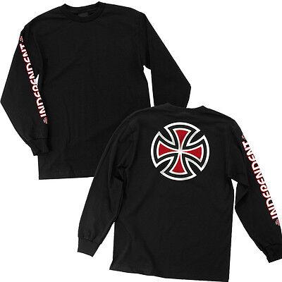 Independent Trucks Bar   Iron Cross Skateboard Long Sleeve T Shirt Black M   Xxl
