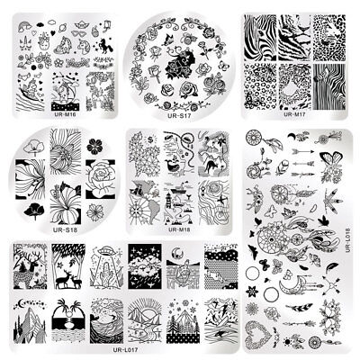 15 Patterns Halloween Rose Nail Stamping Plates Printing Polish  DIY](Diy Halloween Nails)