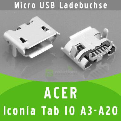 ✅ Acer Iconia Tab 10 A3-A20 B1-810 B3-A10 USB DC Buchse Ladebuchse...