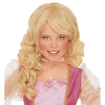 BLONDE PRINZESSIN PERÜCKE # Märchen Fee Königin Kinder Mädchen Kostüm Party 6291