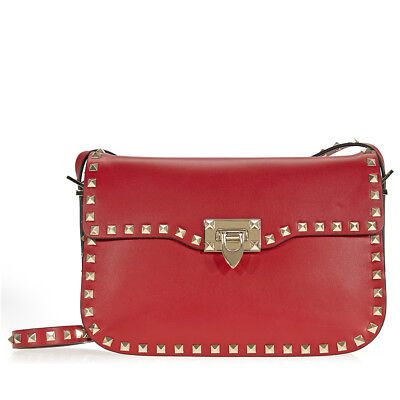 Valentino Rockstud Shoulder Bag - Red