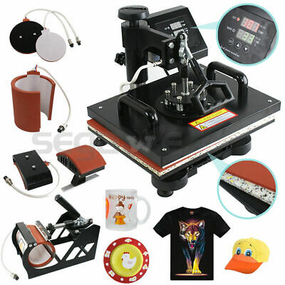 Plate Hat Printer 5 In 1 Digital Heat Press Machine Sublimation For T-shirtmug