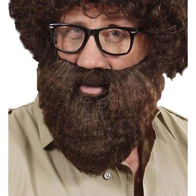 BRAUNER VOLLBART # Safari Fotograph Falscher Bart Kunstbart Karneval Kostüm - Braun Bart Kostüm