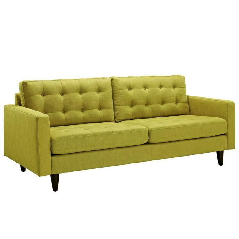 Modway Furniture Empress Upholstered Sofa, Wheatgrass - Eei-1011-whe