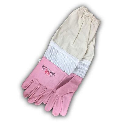 Pink Vented Beekeeping Gloves Medium