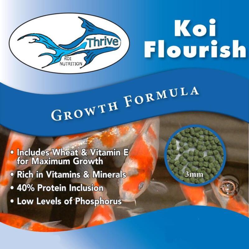 Koi Flourish High Protien Growth Formula Fish Food Diet  - 10lbs