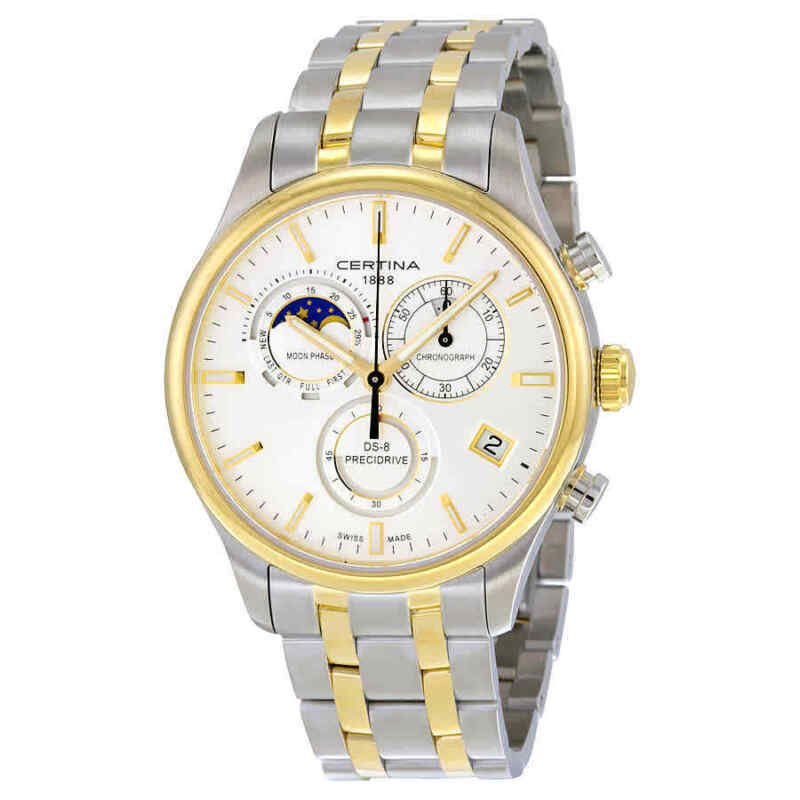 Certina-DS-8-Chrono-Moonphase-Silver-Dial-Two-tone-Men-Watch-C0334502203100