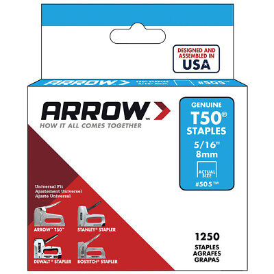 Arrow Fastener Upholstering Carpet Padding Fence Wire Steel 516 Staples New