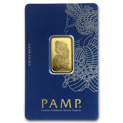 10 gram Gold Bar - Pamp Suisse Lady Fortuna Veriscan (In Assay) - SKU #82239