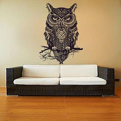 Owl Wall Art Vinyl Decals Decor for Home Room Decal Bedroom Sticker Murals MN851 ()