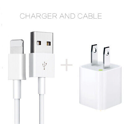 For OEM Apple iPhone 5 6 7 8 11 X Xs Max Pro Lightning USB Cable & Cube Charger