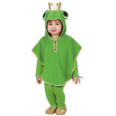 KINDER FROSCH KOSTÜM # Karneval Jungen Mädchen Märchen Tier Poncho 104/110 - Mädchen Frosch Kostüm