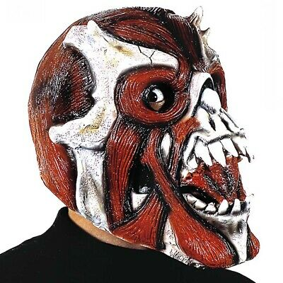 MONSTER MASKE # Halloween Zombie Teufel Schädel Alien Horror Kostüm Party 8293/3 ()