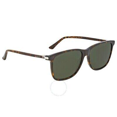 Gucci Square Sunglasseses for Women , GG0017S-005 57 Blue/Havana (005)