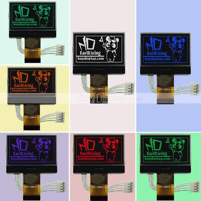 1.8cog 128x64 Graphic Lcd Display Glcdspi Serialst7565p3v Wrgb Backlight