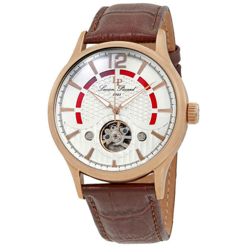 Lucien Piccard Transway Open Heart Automatic Men Watch LP-15038-RG-02S