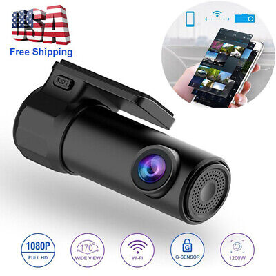 1080P HD DVR Dash Hidden Car Camera Cam Recorder With WiFi G-sensor Night Vision
