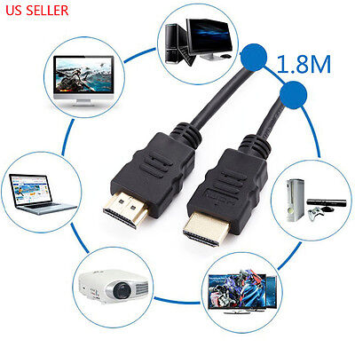 PREMIUM HDMI CABLE 6FT For BLURAY 3D DVD PS3 HDTV XBOX LCD HD TV 1080P US