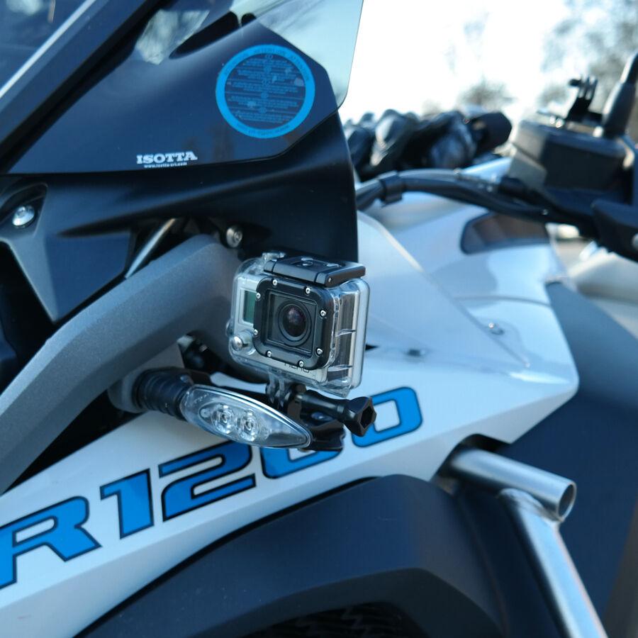 Action cam Halterung an Blinker BMW R1200GS LC + LC Adventure Aluminium,Adapter