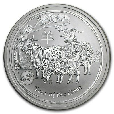 Lion Privy 2015 1 oz Perth Mint Lunar Year of the Goat Silver Coin-Low mintage!!