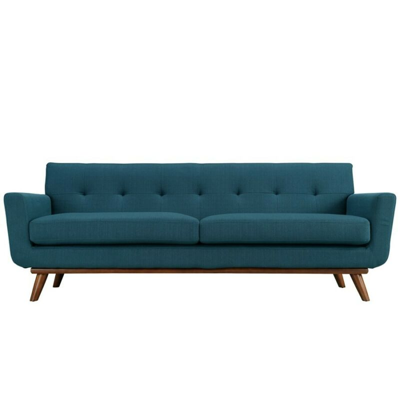 Modway Furniture Engage Upholstered Sofa, Azure - Eei-1180-azu