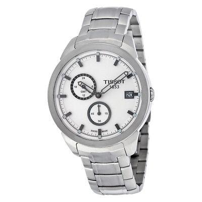 Tissot Titanium GMT White Dial Mens Watch T0694394403100