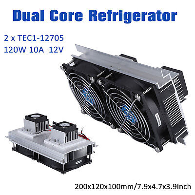 2x Tec1-12705 Thermoelectric Peltier Refrigeration Cooling System Power Supply