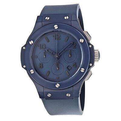Hublot Big Bang Blue Dial Blue Ceramic Rubber Mens Watch 301EI5190RB