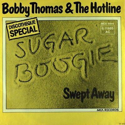 "7"" BOBBY THOMAS & THE HOTLINE Sugar Boogie / Swept Away MCA Funk Disco 1976"