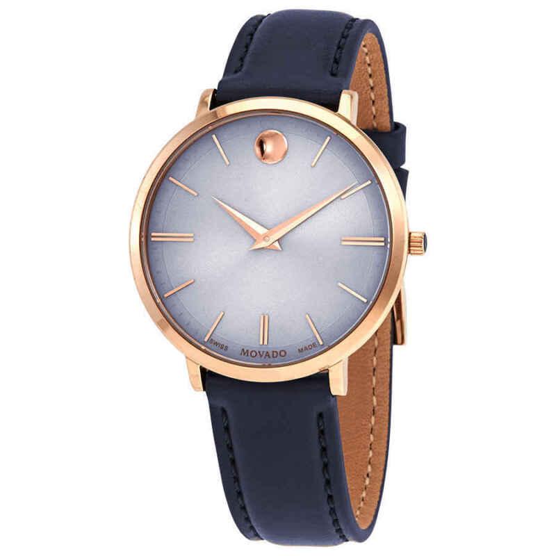 Movado-Ultra-Slim-Pastel-Blue-Dial-Navy-Leather-Ladies-Watch-0607402