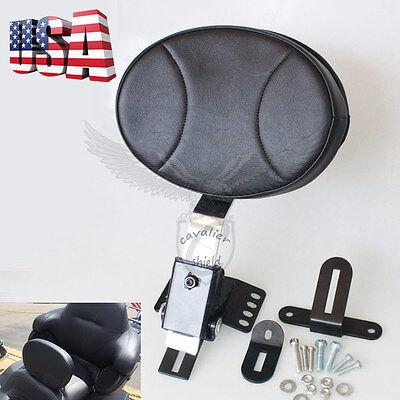 - Plug-In Driver Rider Backrest Set For Harley Touring Street Glide FLHR 97-16 US