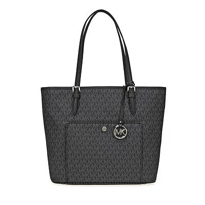 Michael Kors Jet Set Signature Tote - Black