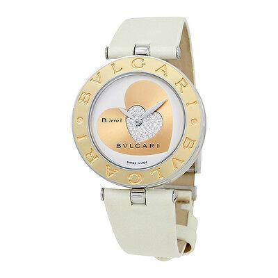 Bvlgari B.zero1 White Dial Leather Ladies Watch 101423