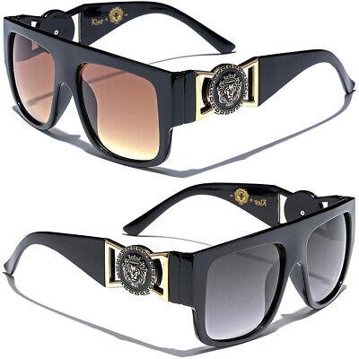 Kleo Flat Top Frame Big Gold Buckle Glasses Hip Hop Gangsta Vintage (Kleo Sunglasses)