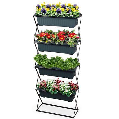 Blumenkastenhalter - Pflanzkasten Halterung - Balkon Kasten Blumenkasten Ständer