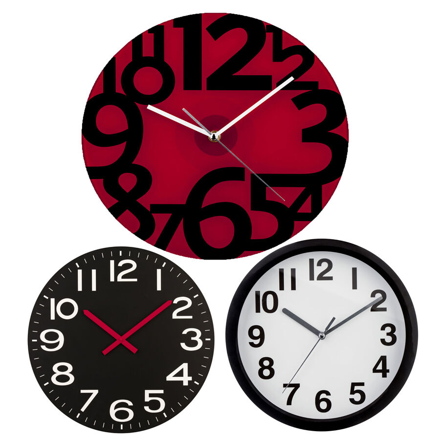Details About Wall Clock Various Designs Round Shape 12 Hour Display Home Office Clocks
