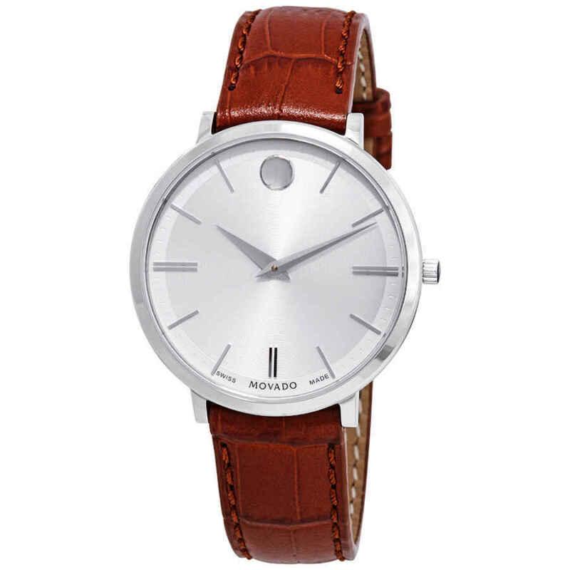 Movado Ultra Slim Silver Dial Ladies Watch 0607183