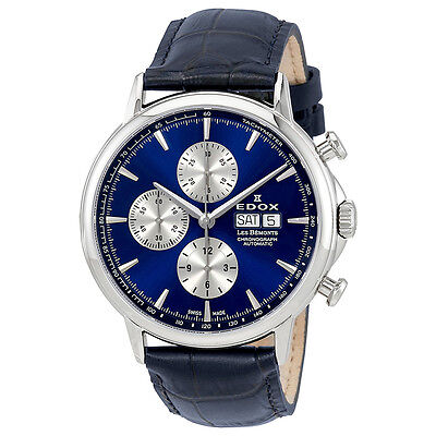 Edox Les Bemonts Chronograph Automatic Mens Watch 01120 3 BUIN