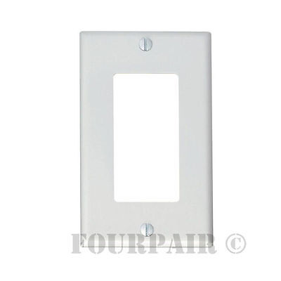 50 Pack - 1-Gang Decora Decorator Flush Wall Face Plate Outlet Cover GFCI White
