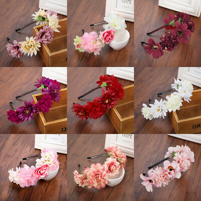 r Crown Headband Rose Garland Hairband Hair Wedding Wreath (Bridal Rose)