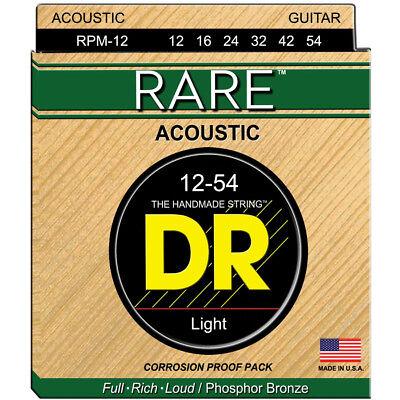 Rare Phosphor Bronze Acoustic Guitar - DR RPM-12 RARE Phosphor Bronze Acoustic Guitar Strings, Light 12-54, New!