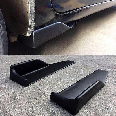 2x Schwarz Rocker Unterboden Seitenschürze Flügel Splitter Universal Auto Kfz #1