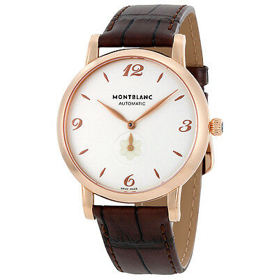 MontBlanc Star Automatic White Dial Rose Gold Mens Watch 107076