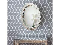 Modern Stylish furniture Oval Cube mirror. Living room Mirror / Bedroom Mirror. AMAZING VALUE SALE