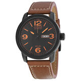 Citizen Eco Drive Black Dial Brown Leather Mens Watch BM8475-26E