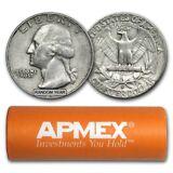 90% Silver Coins - $10 Face-Value Roll (Denomination Varies) - SKU #16485