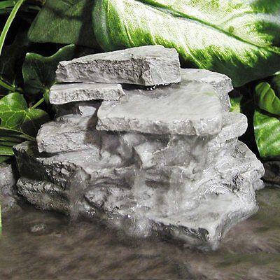 - Birds Choice Layered Resin Rock Outdoor Garden Decor Waterfall Fountain
